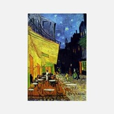 Cafe Terrace at Night by Van Gogh Rectangle Magnet