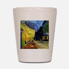 Cafe Terrace at Night by Van Gogh Shot Glass