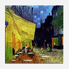 Cafe Terrace at Night by Van Gogh Tile Coaster