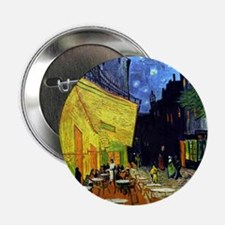 """Cafe Terrace at Night by Van Gogh 2.25"""" Button"""