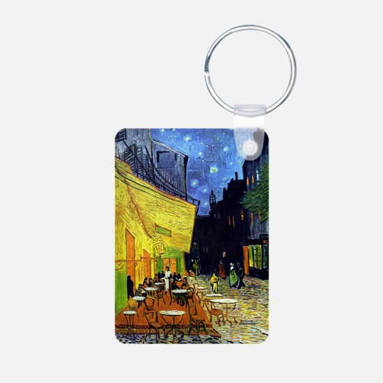 Cafe Terrace at Night by V Aluminum Photo Keychain
