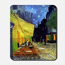 Cafe Terrace at Night by Van Gogh Mousepad