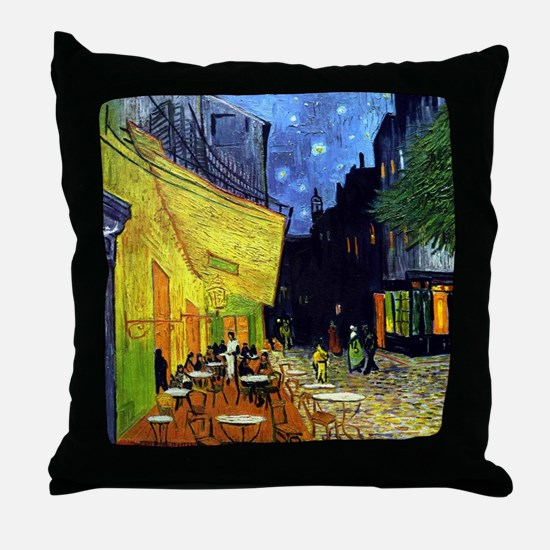 Cafe Terrace at Night by Van Gogh Throw Pillow