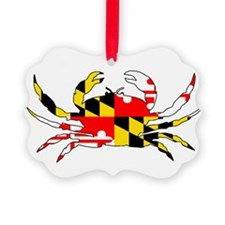 Maryland Crab Picture Ornament