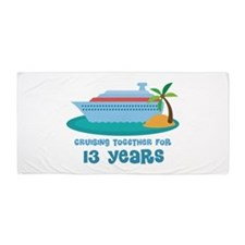 13th Anniversary Cruise Beach Towel