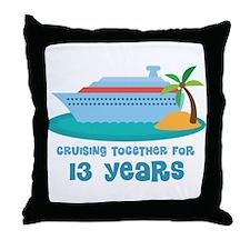 13th Anniversary Cruise Throw Pillow