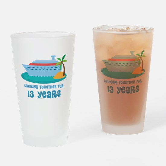 13th Anniversary Cruise Drinking Glass