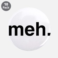 """Black Meh 3.5"""" Button (10 pack)"""