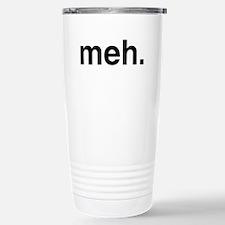 Black Meh Travel Mug