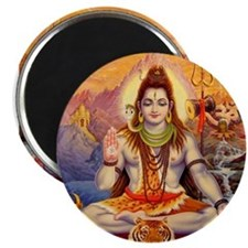 Lord Shiva Meditating Magnets