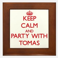 Keep Calm and Party with Tomas Framed Tile
