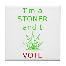 STONER VOTER Tile Coaster