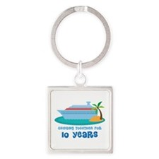 10th Anniversary Cruise Square Keychain