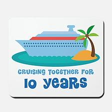 10th Anniversary Cruise Mousepad