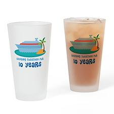 10th Anniversary Cruise Drinking Glass