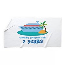 7th Anniversary Cruise Beach Towel