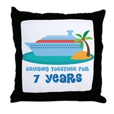 7th Anniversary Cruise Throw Pillow