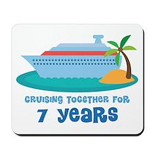 7th Anniversary Cruise Mousepad