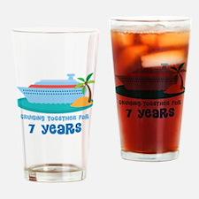 7th Anniversary Cruise Drinking Glass
