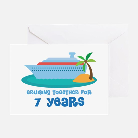 7th Anniversary Cruise Greeting Card