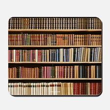 Books On A Bookshelf, Bookcase, Bookcase Mousepad