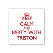 Keep Calm and Party with Triston Sticker