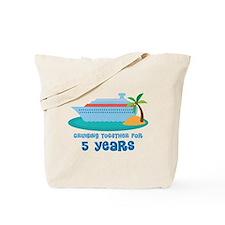 5th Anniversary Cruise Tote Bag