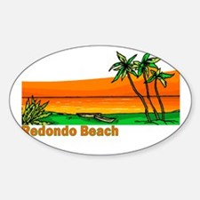 Redondo Beach, California Oval Decal