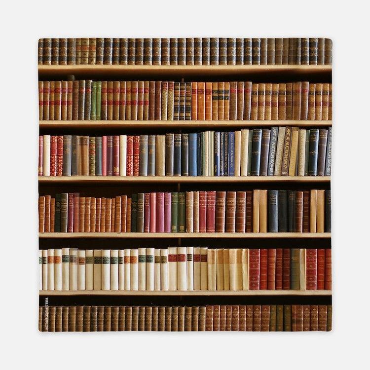 Books On A Bookshelf, Bookcase, Bookcase Queen Duv