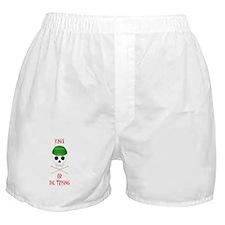 Knit Skull Cap Boxer Shorts