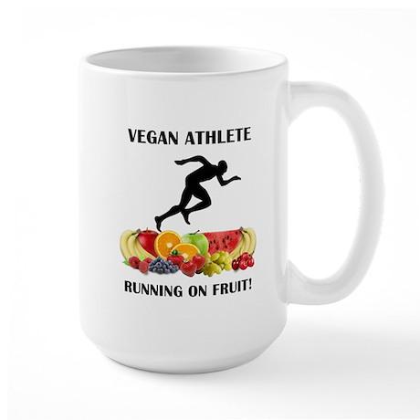 Vegan Athlete Man Running on Fruit Mugs