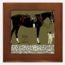 1912 Ludwig Hohlwein Horse Riding Poster Art Frame