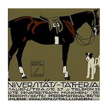 1912 Ludwig Hohlwein Horse Riding Poster Art Tile