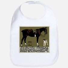 1912 Ludwig Hohlwein Horse Riding Poster Art Bib