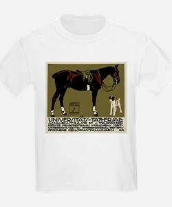1912 Ludwig Hohlwein Horse Riding Poster Art T-Shi