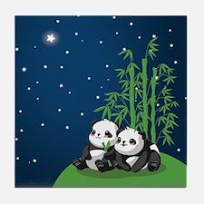 Star Night Panda Tile Coaster