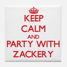 Keep Calm and Party with Zackery Tile Coaster