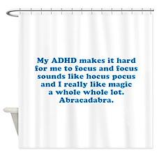 ADHD Magic Hocus Pocus Shower Curtain