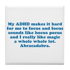 ADHD Magic Hocus Pocus Tile Coaster