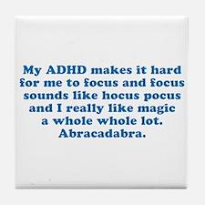 ADHD Magic Hocus Pocus Tile Coaster