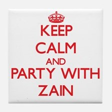 Keep Calm and Party with Zain Tile Coaster