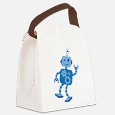 Dancing Robot Canvas Lunch Bag