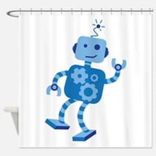 Dancing Robot Shower Curtain