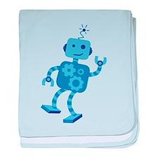 Dancing Robot baby blanket