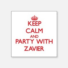 Keep Calm and Party with Zavier Sticker