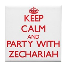 Keep Calm and Party with Zechariah Tile Coaster