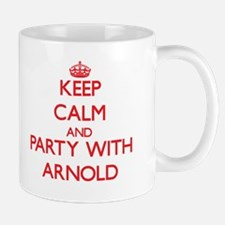Keep Calm and Party with Arnold Mugs