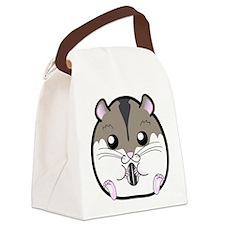 Winter Russian Dwarf Hamster Canvas Lunch Bag