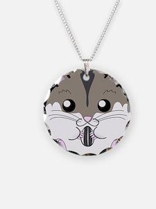 Winter Russian Dwarf Hamster Necklace