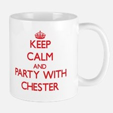 Keep Calm and Party with Chester Mugs